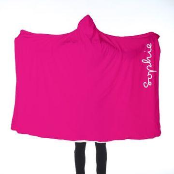 Personalised Pink Adults Hooded Blanket