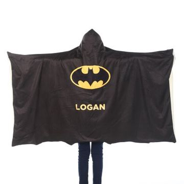 Personalised Batman Kids Hooded Blanket