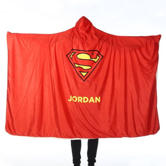 Personalised Superman Adults Hooded Blanket