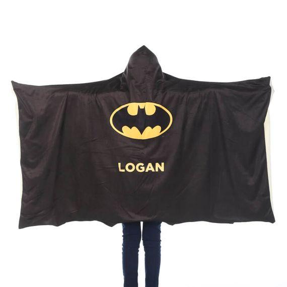 Personalised Batman Adults Hooded Blanket