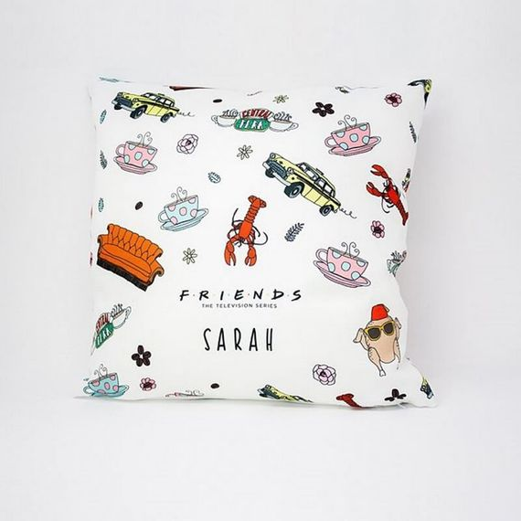 Personalised Friends Patterned Cushion