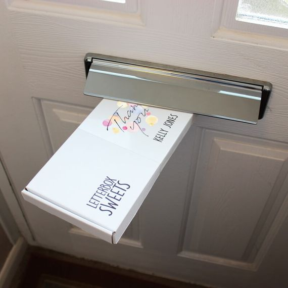 Personalised Thank You Letterbox Sweets