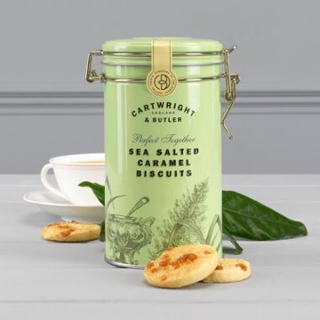 Cartwright And Butler Salted Caramel Biscuits in Tin