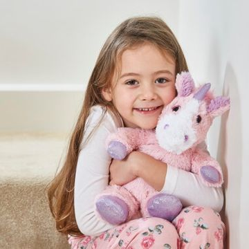 Warmies Microwavable Plush Toy - Pink Sparkly Unicorn