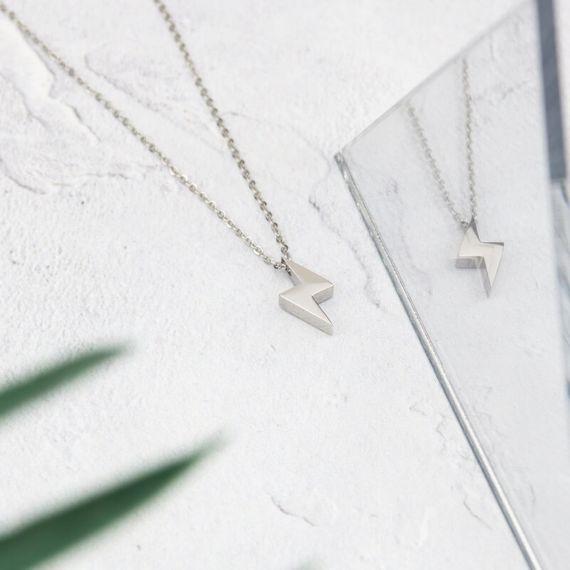 Lightning Necklace - Silver