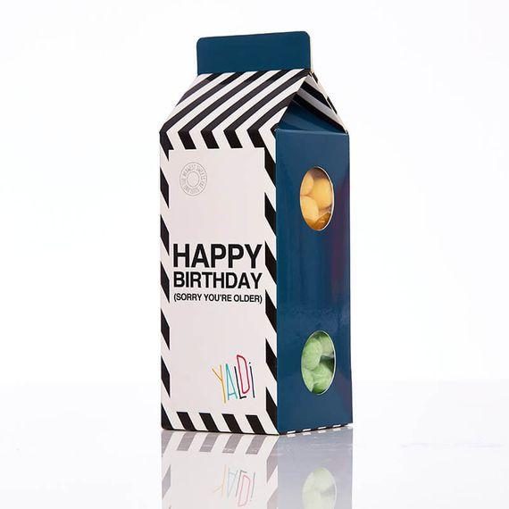 Milk Shaker Blue - Happy Birthday