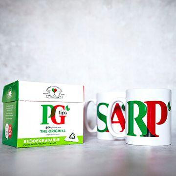 Personalised PG Tips Dual Mug & Tea Set
