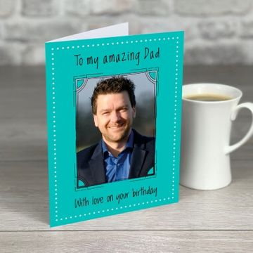 Personalised Happy Birthday Photo Card for Dad