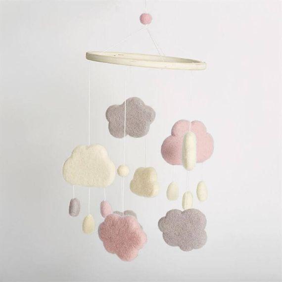 Simply Make Needle Felting Kit - Weather Mobile Pink