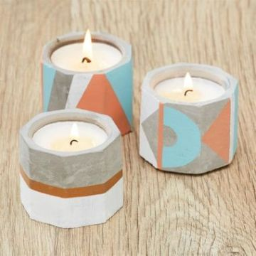 Simply Make Soy Candle Making Kit - Concrete Tealights