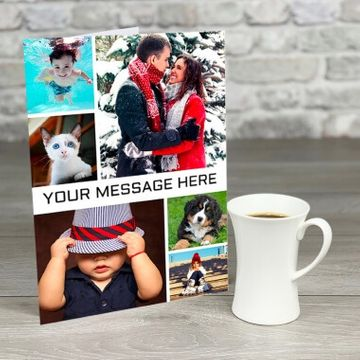 Personalised A4 6 Photo Card with Message