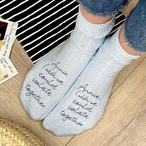 Personalised Thinking of You Snug Socks
