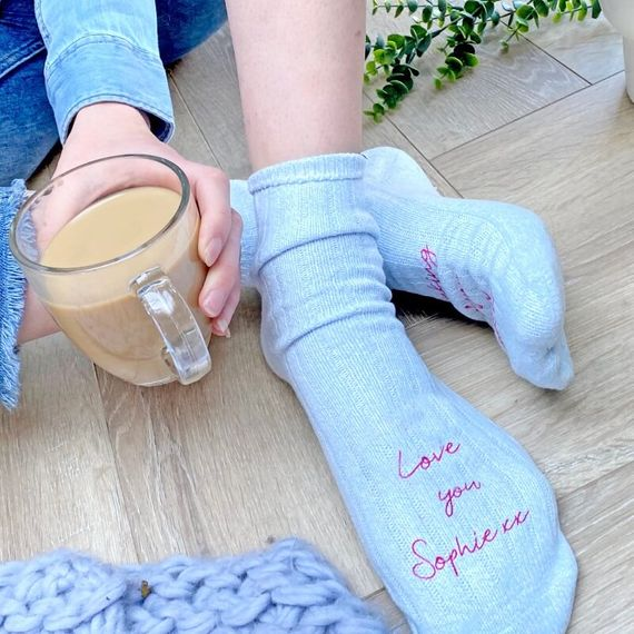 Personalised Love You Snug Socks