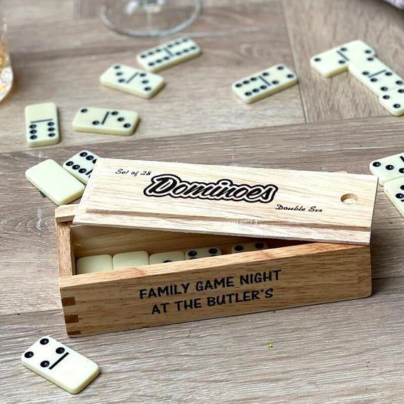 Personalised Wooden Dominoes Set