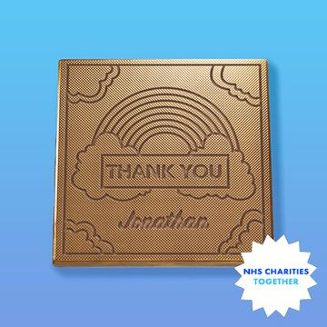 Personalised Thank You NHS Charity Chocolate Card