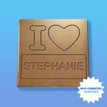Personalised I Heart You NHS Charity Chocolate Card