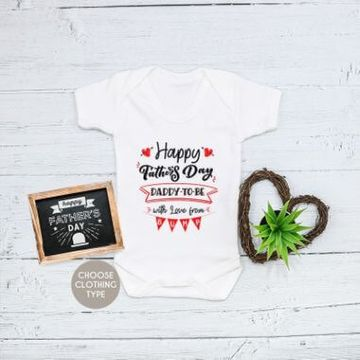 'Daddy to Be' Fathers Day Baby Grow, T Shirt or Romper