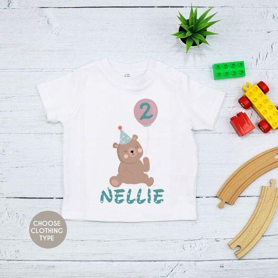 Personalised Teddy Bear Birthday T Shirt