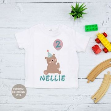 Personalised Teddy Bear Birthday T Shirt
