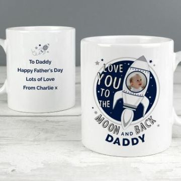 Personalised To The Moon And Back Photo Mug