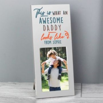 Personalised Awesome Daddy Photo Frame