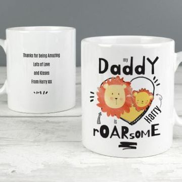Personalised Roarsome Daddy Mug