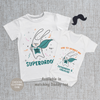 Personalised Matching Daddy And Me - Super Dad Bunny First Fathers Day Baby Grow, T Shirt or Romper