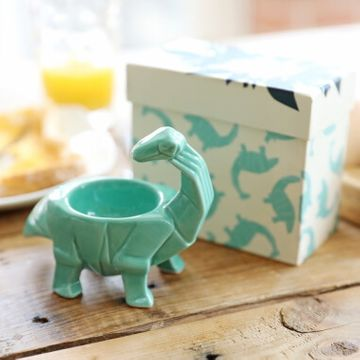 Origami Turquoise Egg Cup