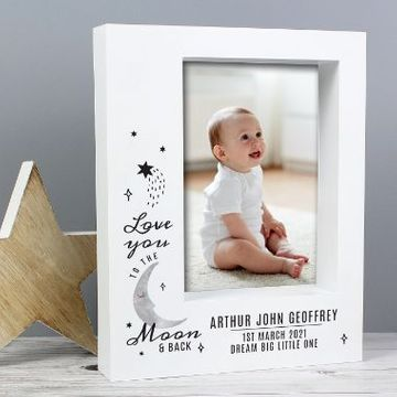 Personalised Baby To The Moon And Back Photo Frame