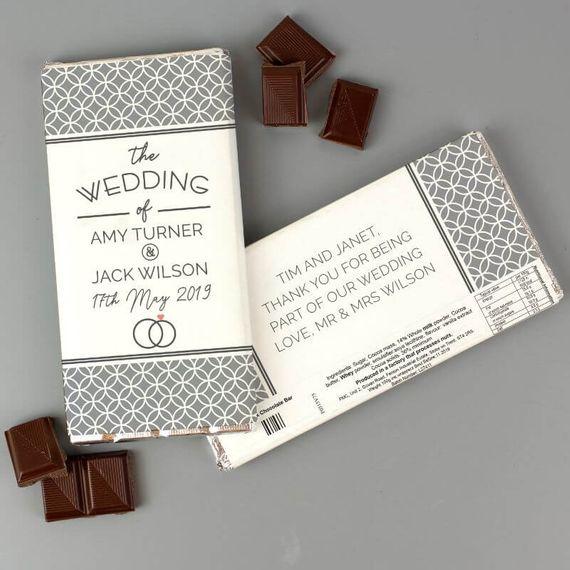 Personalised Wedding Milk Chocolate Bar