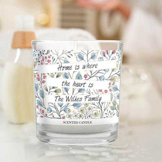 Personalised Botanical Scented Jar Candle