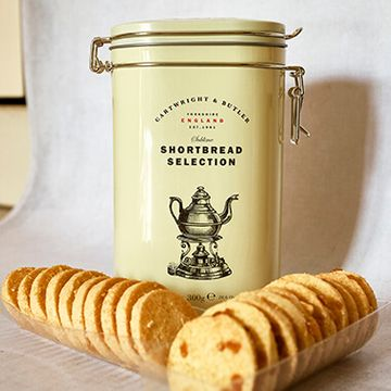 Cartwright And Butler Shortbread Selection With Salted Caramel And Almond In Tin