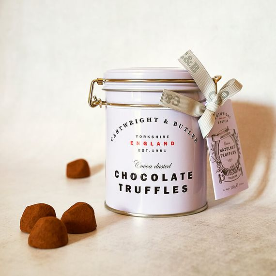 Cartwright And Butler Hazelnut Chocolate Truffles In Tin
