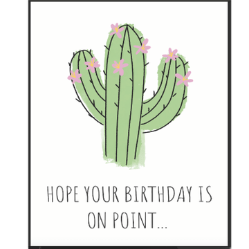Personalised Birthday On Point Card