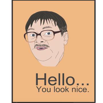 Personalised You Look Nice Card