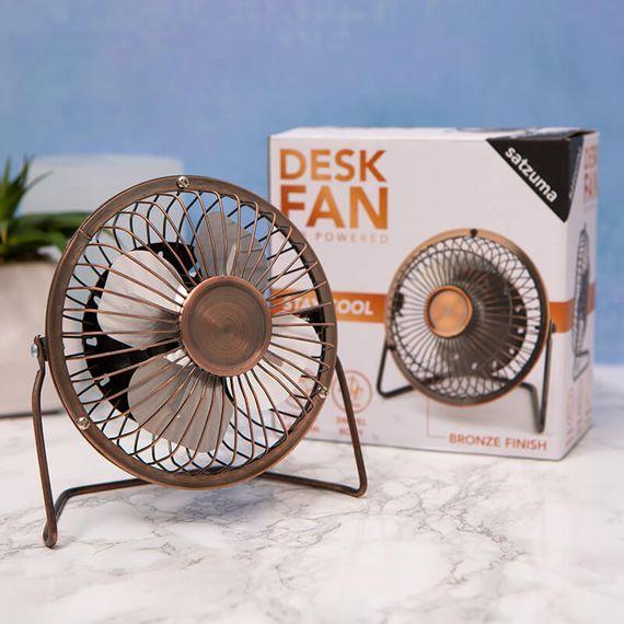 Bronze USB Desk Fan