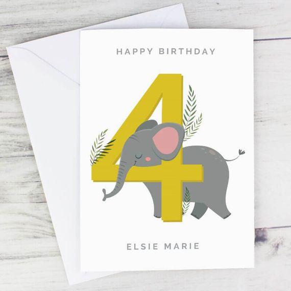 Personalised Animal Birthday Card
