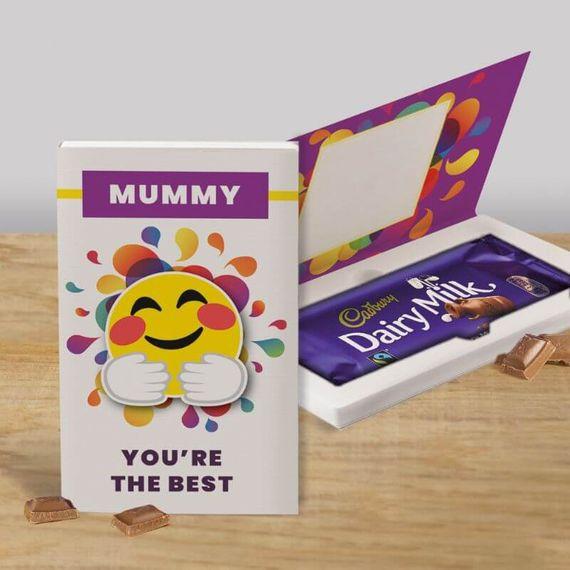 Personalised You're The Best Cadbury Dairy Milk Chocolate Card