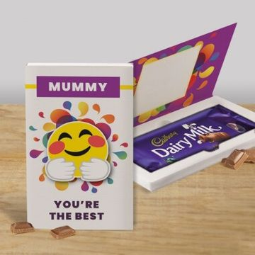 Personalised You're The Best Cadbury Dairy Milk Chocolate Card