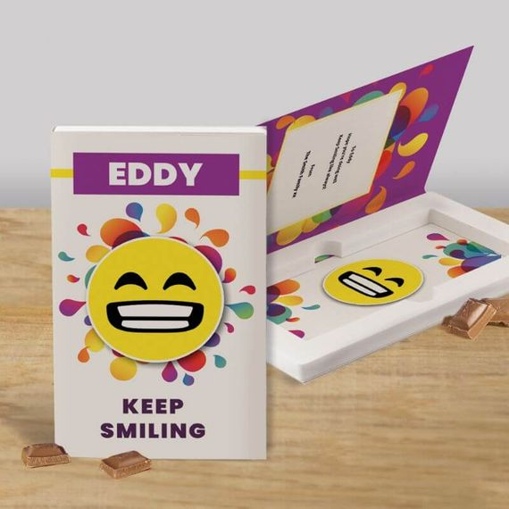 Personalised Keep Smiling Cadbury Dairy Milk Chocolate Card