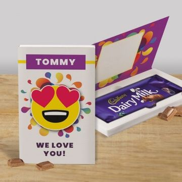 Personalised Love You Cadbury Dairy Milk Chocolate Card