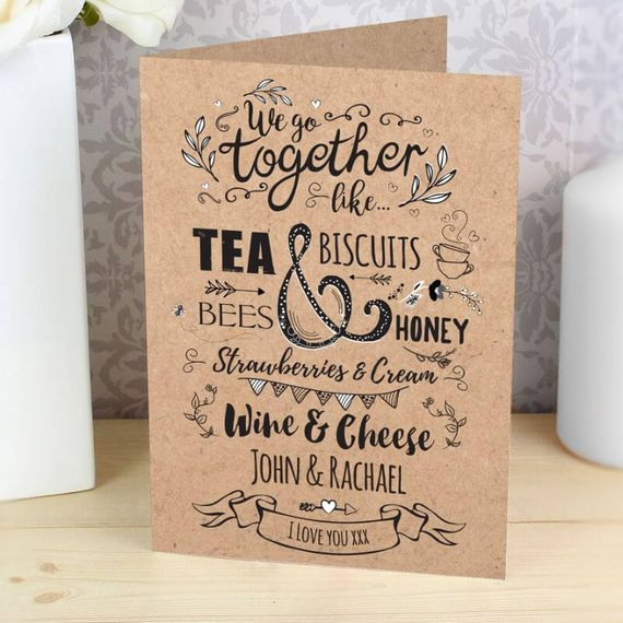 Personalised We Go Together Like...Card