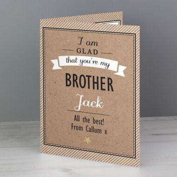Personalised I Am Glad... Card