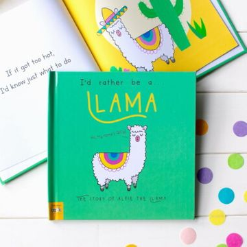 Personalised I'd Rather Be a Llama Book