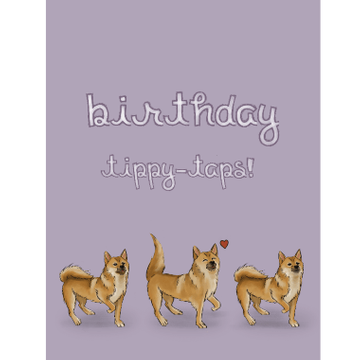 Personalised Birthday Taps Card
