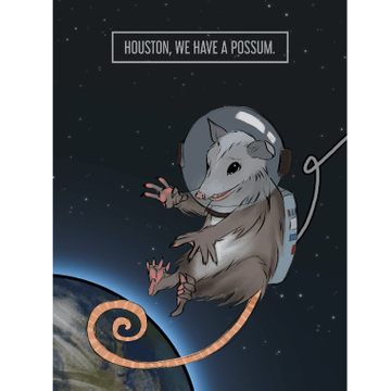 Personalised Houston We Have a Possum Card