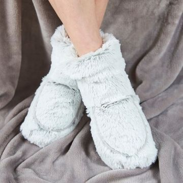 Cozy Microwaveable Boots - Grey