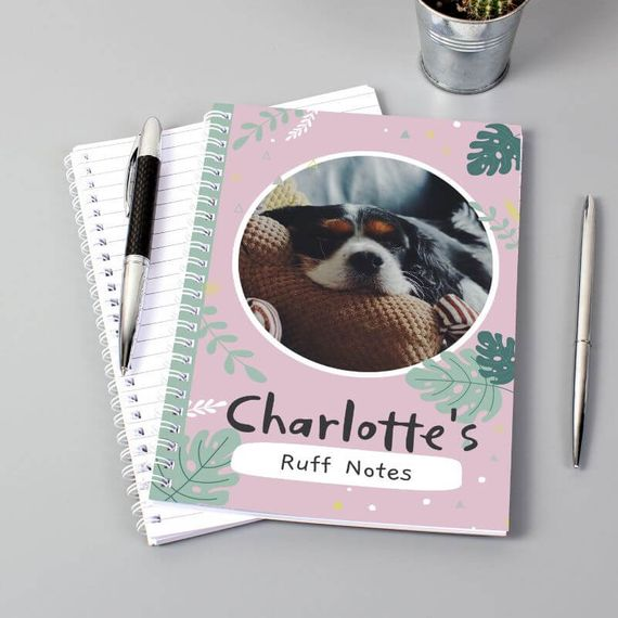 Personalised Botanical Pet Photo Upload Notebook