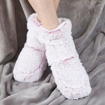 Cozy Microwaveable Boots - Light Pink