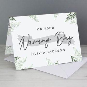 Personalised Naming Day Card